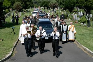 My father's funeral. Complete with New Orleans Jazz Band. What did I say about unconventional?