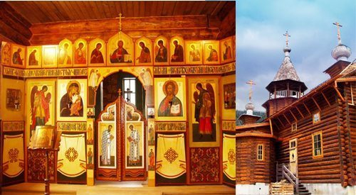 This charming chapel sits deep in the Pyrenees and sponsored by the local Roman Catholic Diocese as an act of good will to the small local Orthodox community. The wooden construction was built in Russia, then shipped to its current location in four modular pieces.