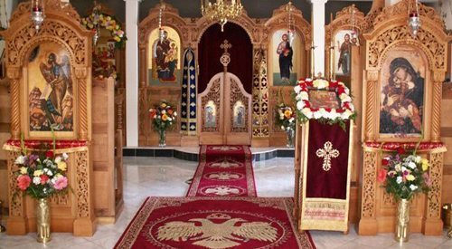 St. John's Monastery Goldendale, Washington shows how a beautiful Iconostasis can go a long way.