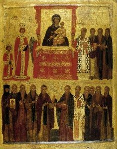 The Triumph of Orthodoxy. We even have an icon about icons. Image from Wikimedia