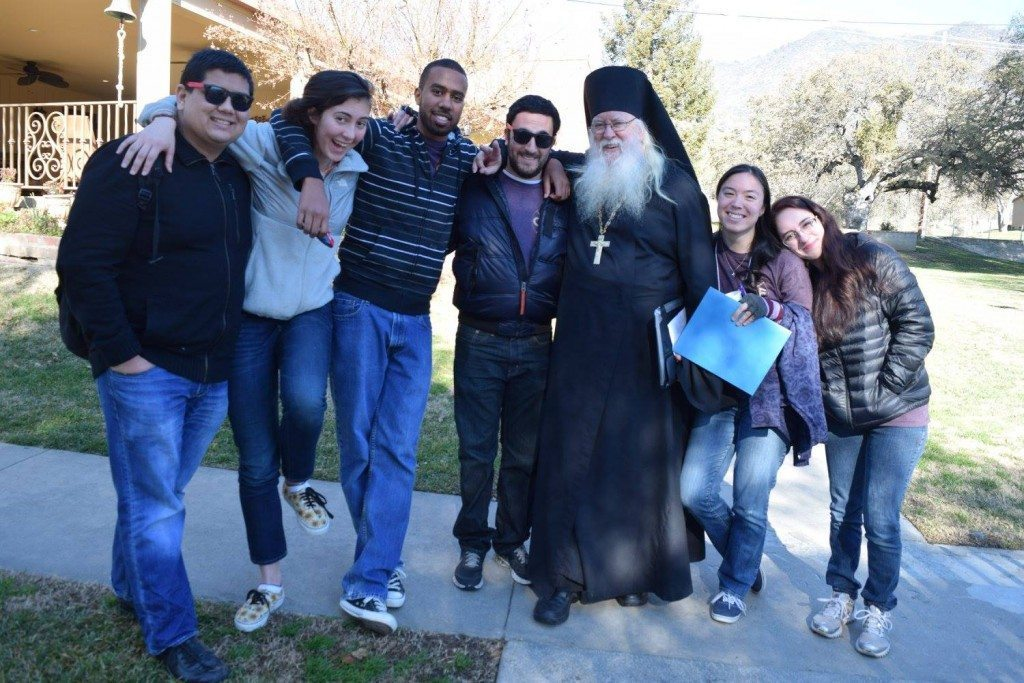 CCWest15 Participants with the beloved Abbot Tryphon