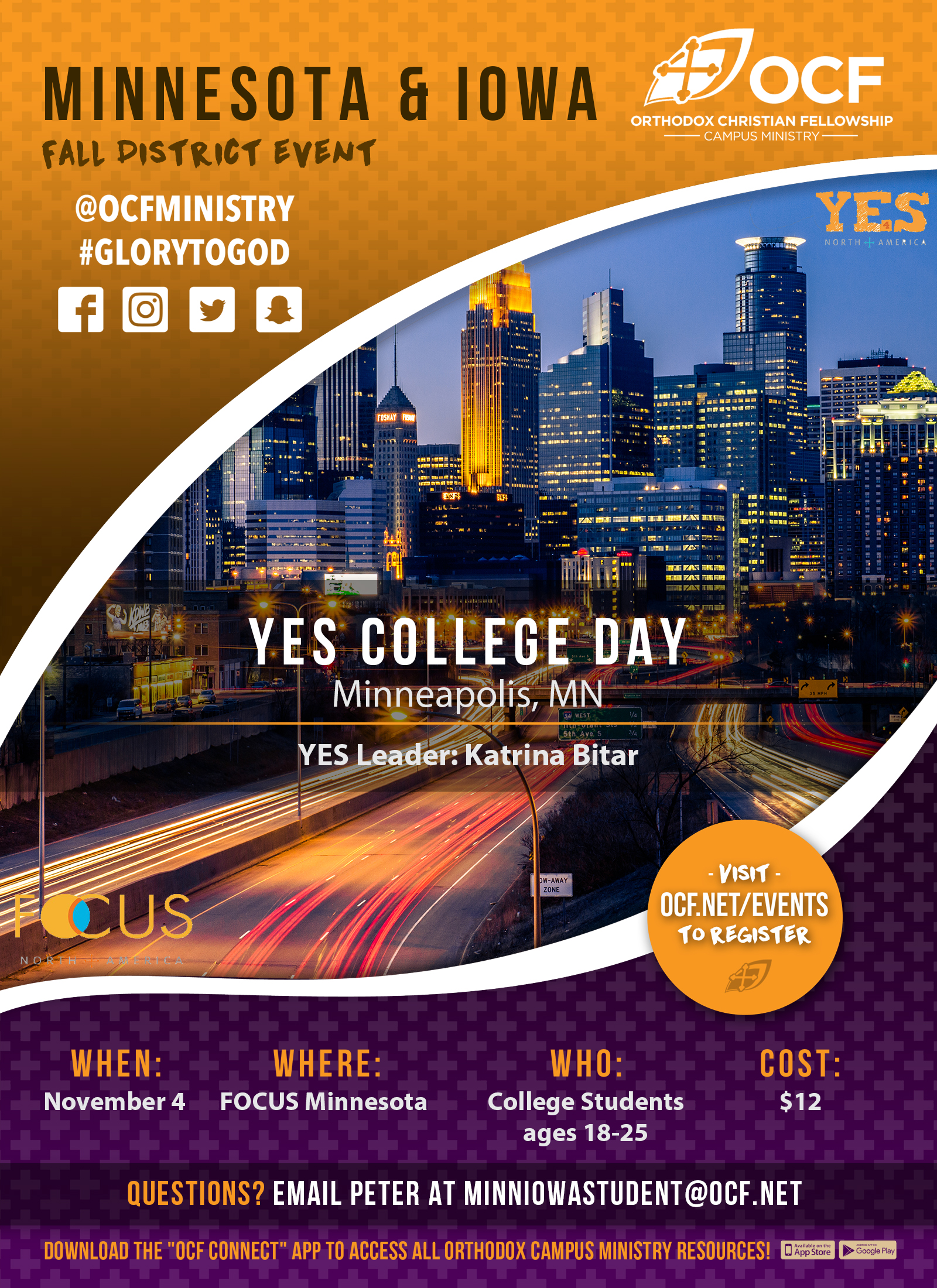 Fall 2017 Minnesota & Iowa YES College Day