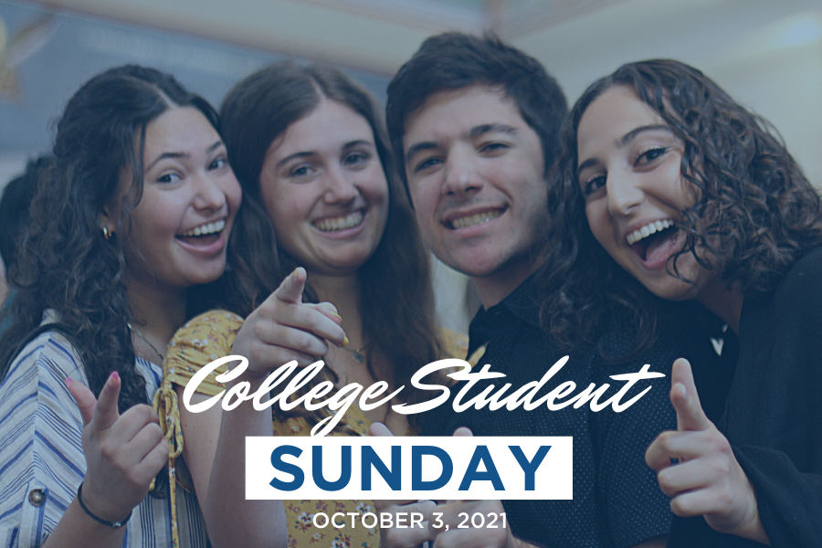 College Student Sunday scheduled for October 3, 2021